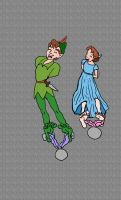 Wendy and Peter Pan tickled 2 by rajee