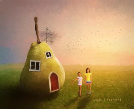 Pear House by angiebro