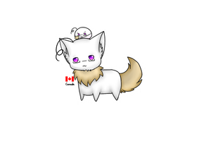 Neko and Mochi - Canada by Saya-Alphaling