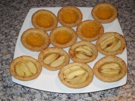 Apple and Orange Curd Tarts by Bisected8