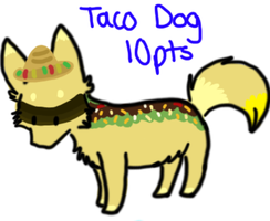 Taco Dog Adoptable CLOSED by TheAdoptShop