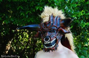 Leather Minotaur Mask by Epic-Leather