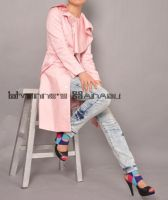 Pink Cotton Ruffle Coat 15 by yystudio