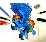 Rainbow Dash by PepperScratch