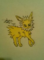 Jolteon Drawing by Miku-chan9