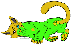 Very Neon Kitty Adopt - Adopted by Feralx1