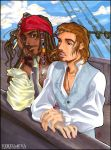 Jack and Will on the high seas by vejiicakes