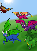 Dragon Friends by Runya-Isamu