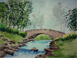 Watercolour: River by TranquilitySurreil