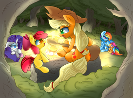 At the campfire by Madacon