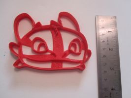 Toothless Face Cookie Cutter by B2Squared