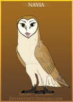 Navia the barn owl by zavraan