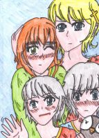 aph: Family portrait (coloured version) by LoveEmerald