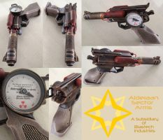 Princess Leia inspired Steampunk Blaster Pistol by GirlyGamerAU