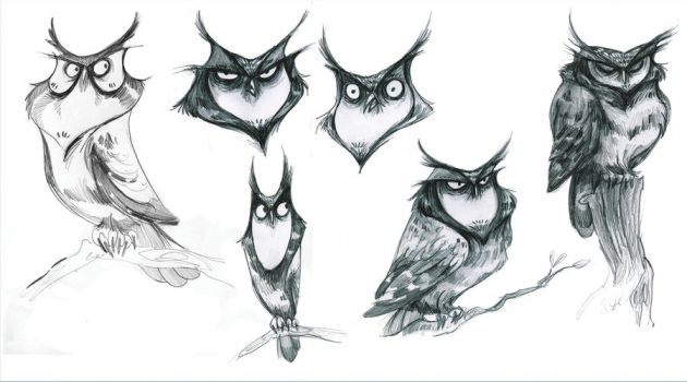 A Collage of Horned Owls by ronaika