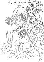 Lineart- My senses are clouded by OtakuMaii