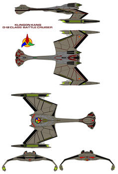 Klingon Warbird  Kang   D-12 Class Battle Cruiser by bagera3005