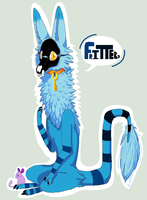 MY fursona Fritters by Densetsugin