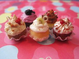 Gourmet Cupcake Charms by WaterGleam