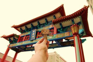 Danbo visits China Town ...... by Yuffie1972