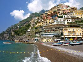 Italy - Waves of Positano by AgiVega