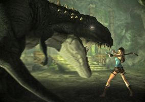 Lara and the T-Rex by toughraid3r37890