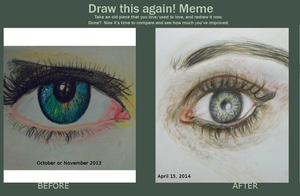 Before and After: Eye by chelsmith18