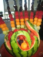 Cool looking fruit array by obitoxuchihaxlover