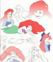 The Little Mermaid Sketches by JennaViva