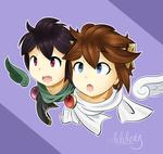 Pit and Dark Pit by LuLuLevy