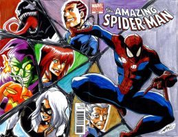 Amazing Spider Man 648 Art Sketch Cover by eisu