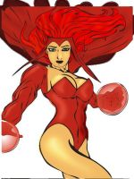 scarlet Witch coloring by min by robertarts