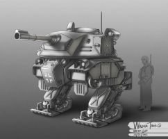 WW2 Walker Tank 02 by bramLeech