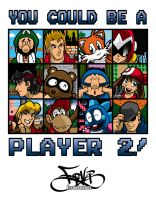 Player 2 T-Shirt Design by Thormeister