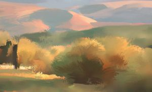 Sunset Hills by NathanFowkesArt