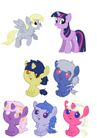 Twilight x Derpy Adopts! OPEN by SnowingRoses