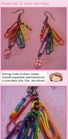Paperclip and dice earrings by fairy-cakes