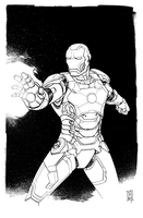 Iron Man Mark XLII inked by Hodges-Art