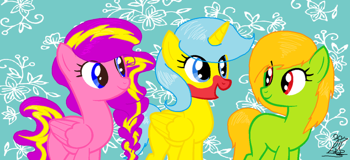 New Friends New Fun! (Request) by LunaShineArts
