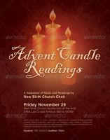 Advent Candle Readings Church Flyer Template by loswl