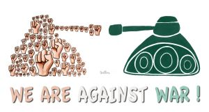 We Are Against War by BenHeine