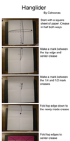 Origami Hang Glider Instructions by Cahoonas