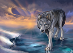 Walking on the ice by FlashW