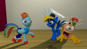 My reaction of Dashie's new costume by TBWinger92