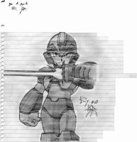 Mega Man X Sketch by kenshinffx