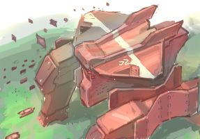 Mech Painting4 by dimodee