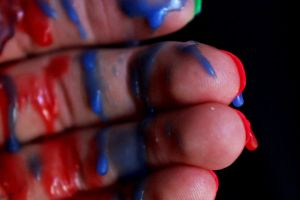 Blue and Red Spill 3 by AgatsumaSoubisan