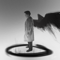Castiel | Holy Fire (Version 1) by SunflowerDaemon