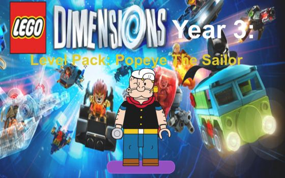 Lego Dimensions Popeye the Sailor by EthanTavitas