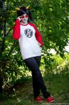 terezi in broken record shirt cosplay by Sioxanne